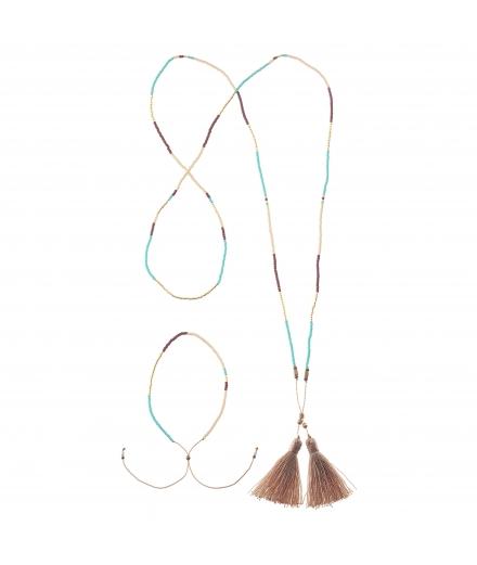 Collier & Bracelet en Perles de Verre - MATSUNO
