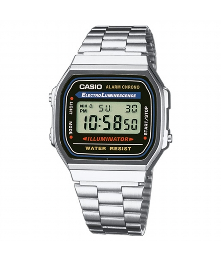 Montre Mixte Digitale A168WA-1YES Argent - CASIO