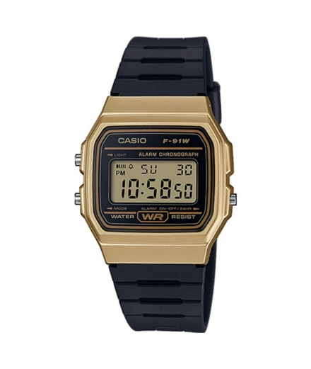 Montre Mixte Standard Digitale F-91WM-9AEF Or - CASIO
