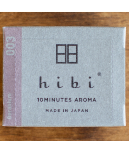 Bâtons d'encens Geranium Grande Boîte x30 - Hibi