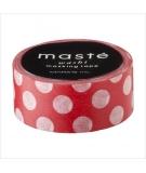 Masking Tape Polka Dots Red - masté