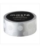 Masking Tape Polka Dots Silver - masté