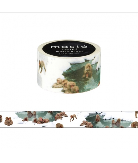 Masking Tape Monkey and hot spring - masté Multi