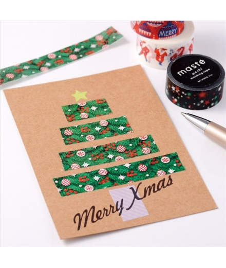 Masking Tape Message Ornament - Masté