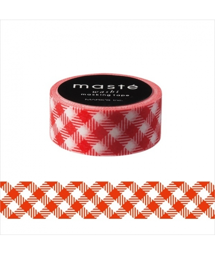 Masking Tape Check Rouge - Masté Basic