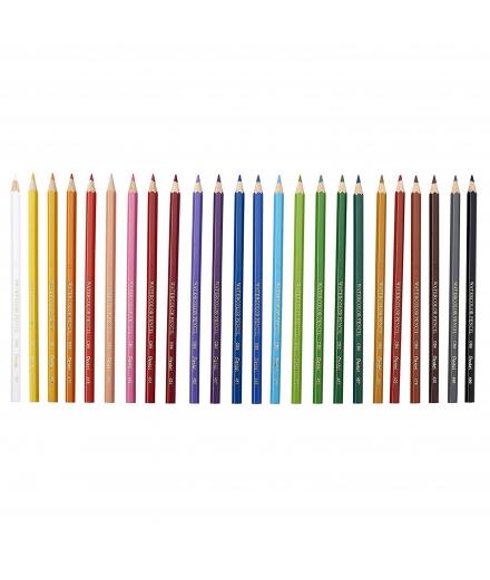 Crayons Aquarellables En Boîte De 24 / Pentel