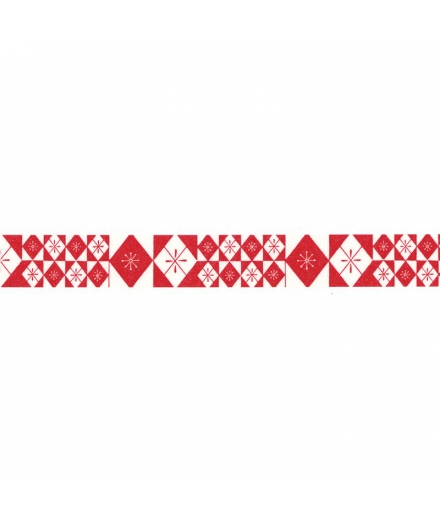 Masking Tapes Rouge Motif Traditionnel - HAIBARA