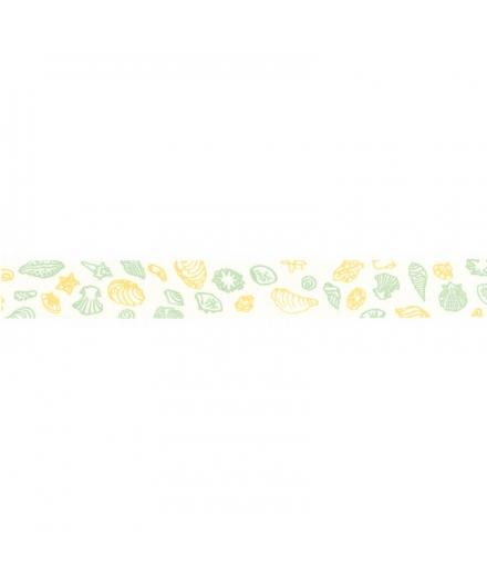 Masking Tapes Blanc Motif Coquillage - HAIBARA