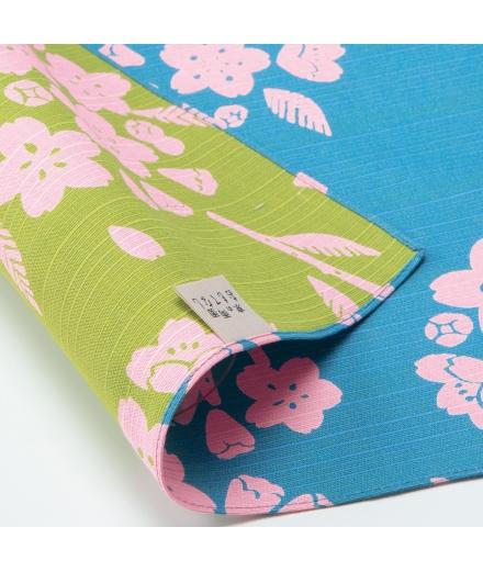 Furoshiki Japonais Reversible 50x50cm Sakura - YU SOKU
