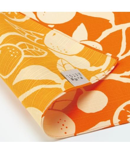 Furoshiki Japonais Coton 50x50cm Orange - YU SOKU