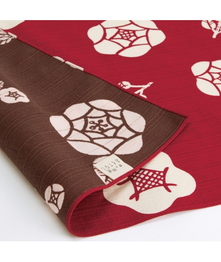 Furoshiki Japonais Réversible Coton 50x50cm Rose - YU SOKU