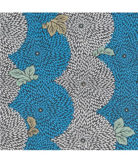 Furoshiki Japonais Coton 50x50cm Chrysanthème - YU SOKU