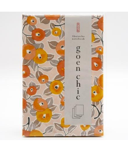 Carnet Goshuin-Chô Fleurs Orange - SHOGADO