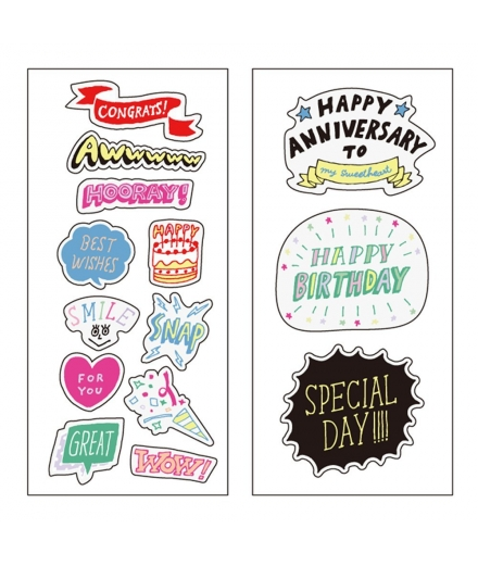 Sticker Transparent Kawaii Anniversaire - MARK'S