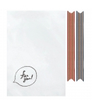 Pochettes Cadeaux Transparantes FOR YOU x8 - INDIGO