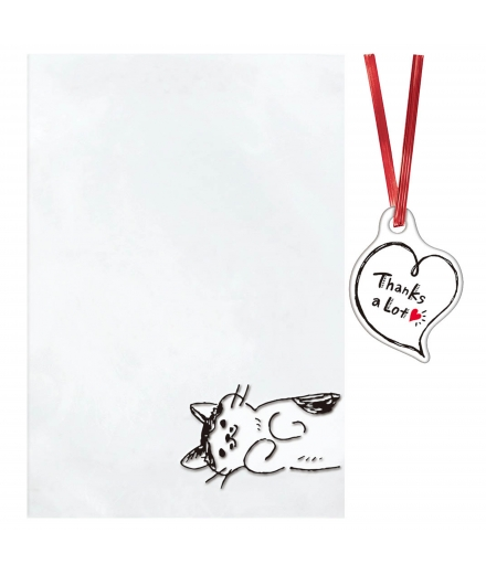 Pochettes Cadeaux Transparantes S Chat x10 - INDIGO