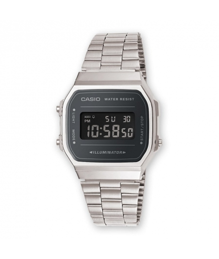 Montre Mixte Digitale A168WEM-1EF Argent - CASIO