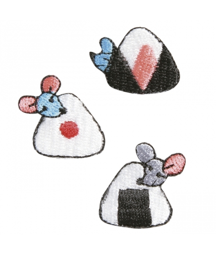 Set 3 Patchs Thermocollant Onigiri - KYOTOTO