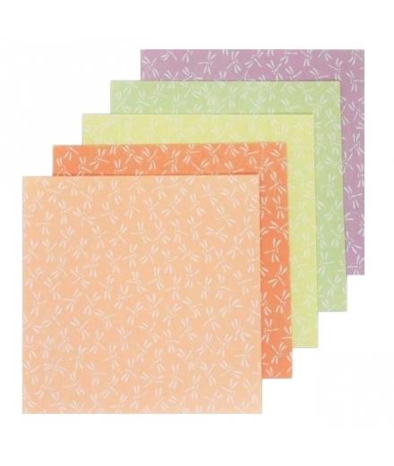 Set de 25 Papiers à Origami Libellules 9.5x9.5cm - SHOGADO