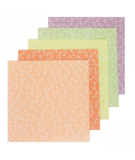 Set de 25 Papiers à Origami Libellules 15x15cm - SHOGADO
