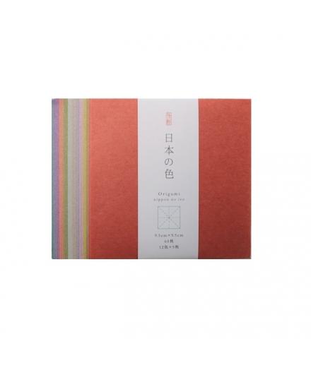Set de 60 Papiers à Origami Couleurs du Japon 9.5x9.5cm - SHOGADO