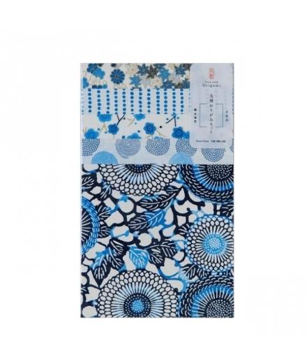 Set de 10 Papiers à Origami Bleu 15x15cm - SHOGADO