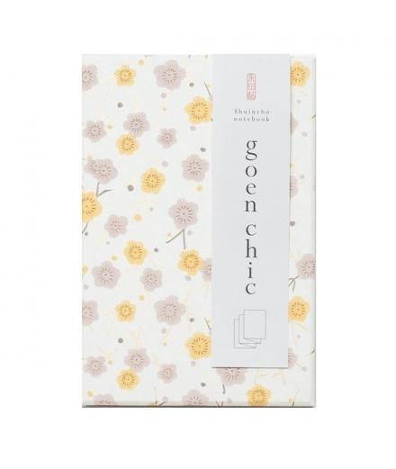 Carnet Goshuin-Chô Fleurs Beige - SHOGADO