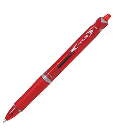 Acroball Pointe Moyenne 1.0mm Rouge - PILOT