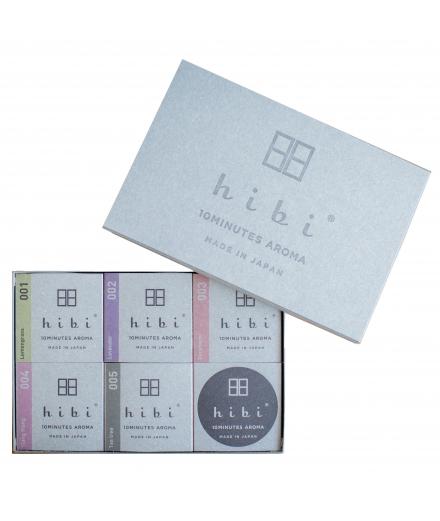 Set de 5 boites boites d'encens - Hibi