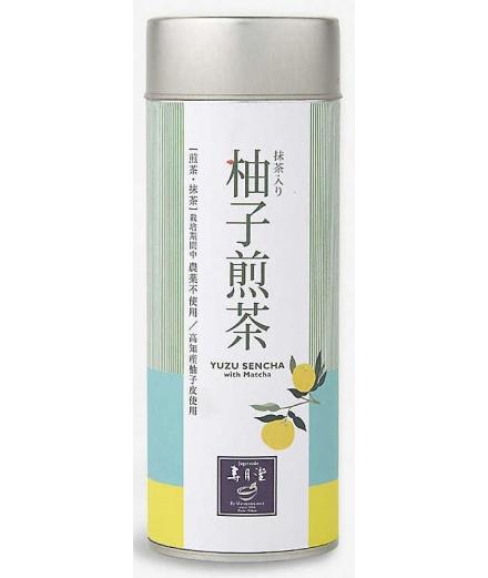 Boîte Thé Vert Sencha Yuzu Avec Matcha 50g - JUGETSUDO