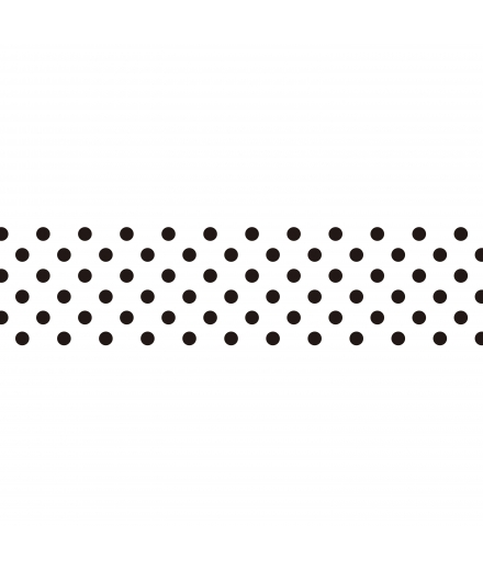 Masking Tape Black Polka Dots - masté