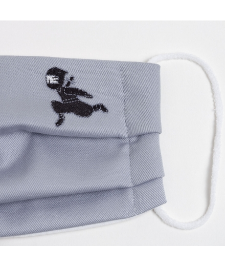 Masque 100% Coton Réutilisable Lavable Ninja Gris - KYOTOTO