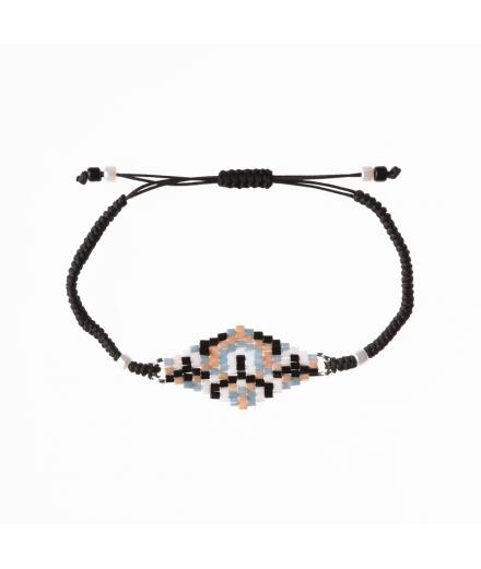 Bracelet En Perles De Verre Mosaic - MATSUNO
