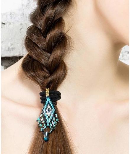 Élastique À Cheveux En Perles De Verre S - MATSUNO