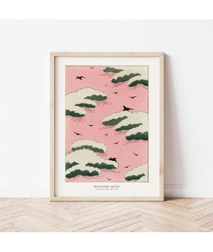 Affiche Estampe Pinku no sora / Atelier Bigarade