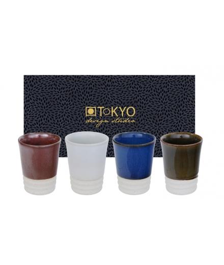 Set de 4 tasses Espresso Colorées / TOKYO DESIGN STUDIO