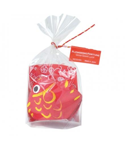 Porte bonheur Carpe rouge