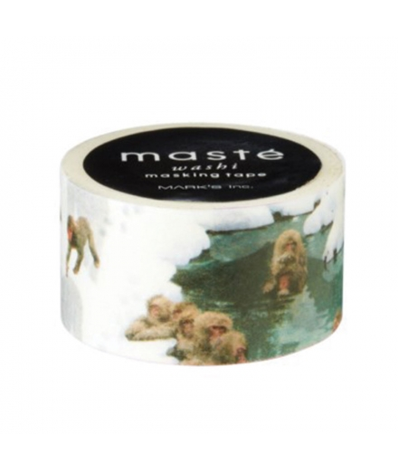 Masking Tape Monkey and hot spring - masté® Multi